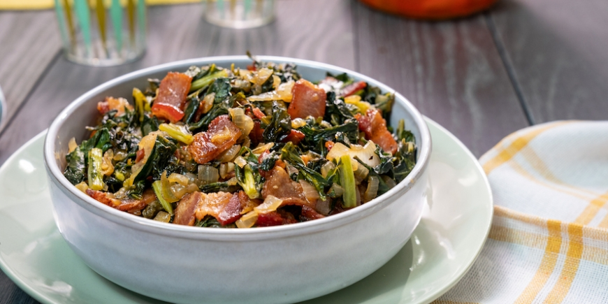 Pan Fried Collard Greens
